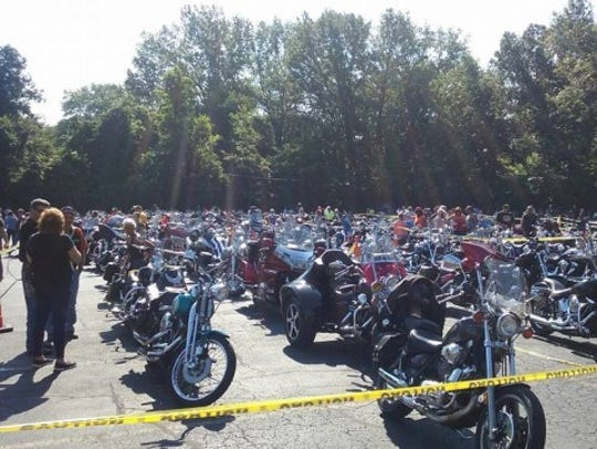 Bikes are ready to roll before a past Freedom Ride.