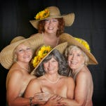 """The """"Calendar Girls"""" pose for Lab Theater's charity calendar. Pictured clockwise from top are Suzanne Davies, Pat Clopton, Lori Riti and Lois Kuehne."""