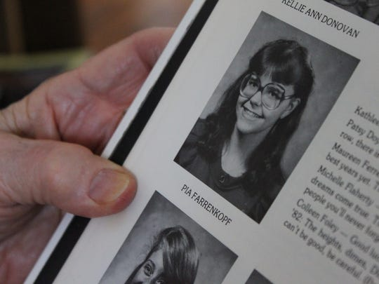 Pia Farrenkopf's attended Cardinal Cushing Central High School, an all-girls Catholic school in Boston. Her picture is shown in the 1983 yearbook.