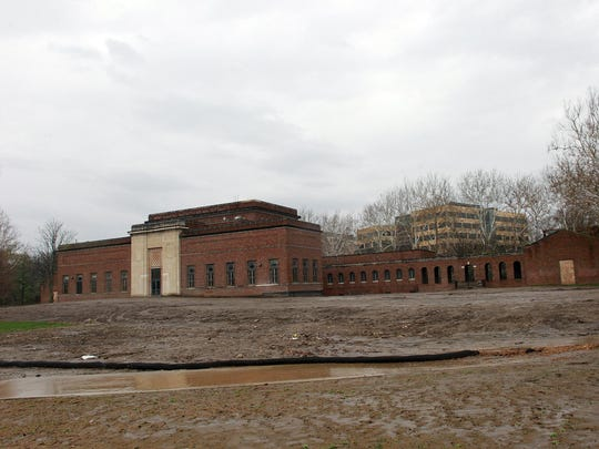 The University of Iowa's former art building is seen on Thursday, April 24, 2014. Demolition work has concluded to display the building's original walls from the 1930s.