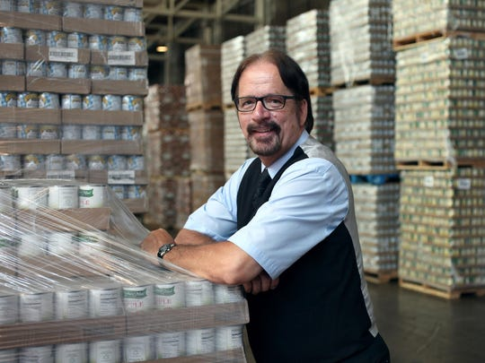 Frank Kubic, food program director at Focus Hope in their food warehouse in Detroit.