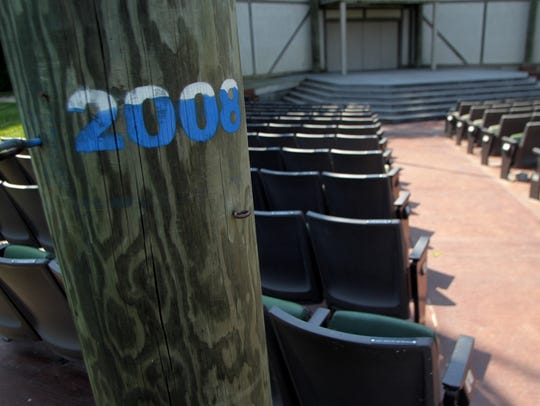 "A ""2008"" marks the water level from the 2008 flood"