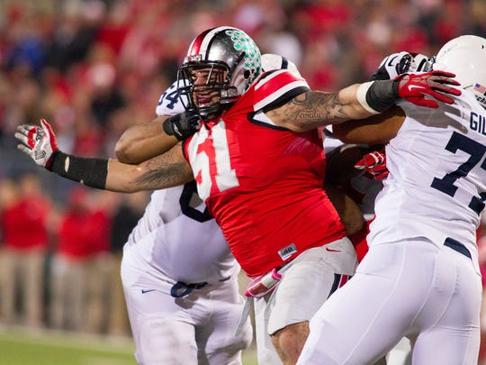 Ohio State defensive tackle Joel Hale