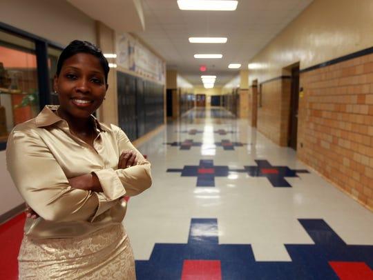 Kenyatta Wilbourn Snapp, principal of  Denby High School,