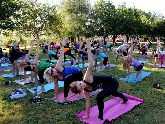 Try an outdoor yoga class this weekend.