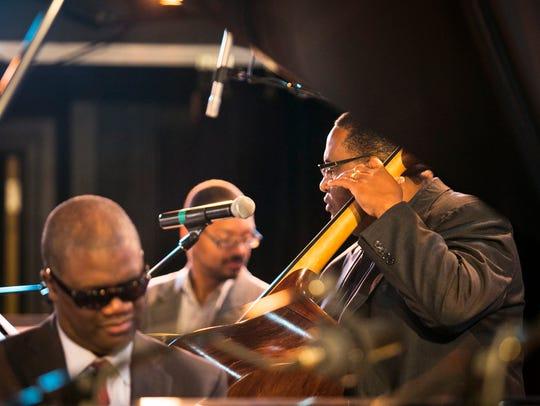 Rodney Jordan of Marcus Roberts Trio demonstrates bass