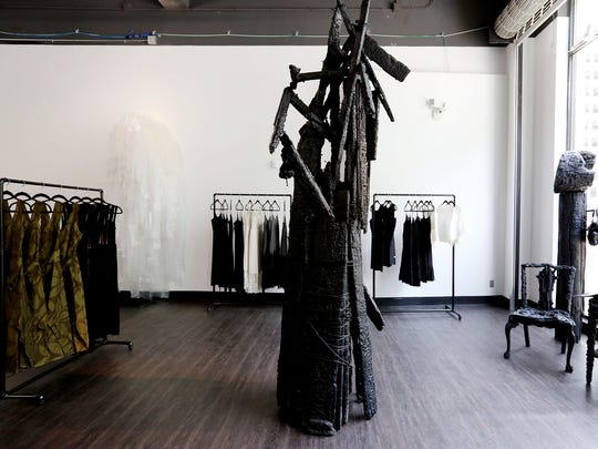 Roslyn Karamoko, founder of Detroit Is The New Black (DITNB), is opening a pop up store  at 1426 Woodward  in downtown Detroit this week that will have her t-shirt line and other items with DITNB on it. Also being featured are dresses by designer Tracy Reese who is a Detroit native. In addition, the store will have artwork by local artist Leon Dickey throughout the space and jewelry by designer  Nino Bertera and other designers and their items.