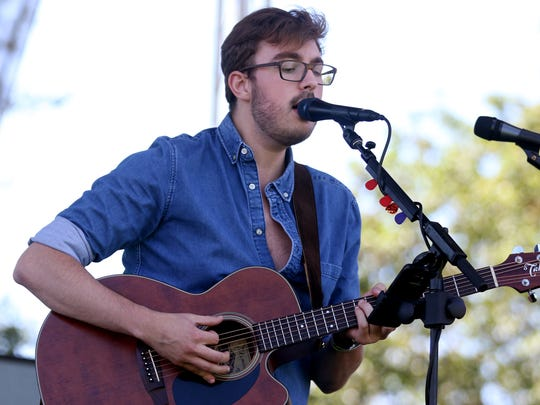 Jacob Westfall performs during the Bite & Brew festival