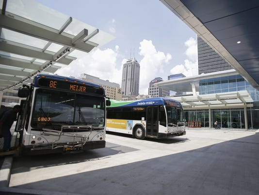 IndyStar stock indianapolis stock downtown stock transit stock indygo bus
