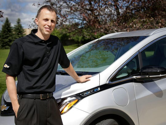 The 2017 Chevrolet Bolt EV chief engineer, Josh Tavel,