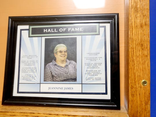 Jeannine James was the first inductee to the Gervais