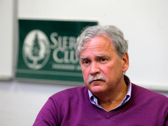 Jeff Tittel, chapter director the New Jersey Sierra Club talks about his concerns about Oyster Creek, the plant's decommission, and what radioactive waste on the site could mean for the future, at the New Jersey Sierra Club office in Trenton, NJ Tuesday January 17, 2017.