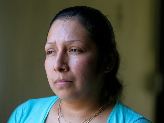 Alejandra Morales, an activist for Latinos in Lakewood and who came to the U.S. illegally two decades ago, tells her story at La Casa de la Tia restaurant in Lakewood, N.J., Thursday May 18, 2017.