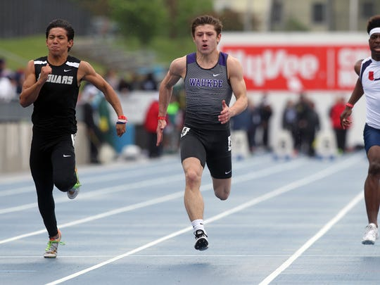 Ankeny Centennial's Ryan Van Baale is one of the state's top sprinters.