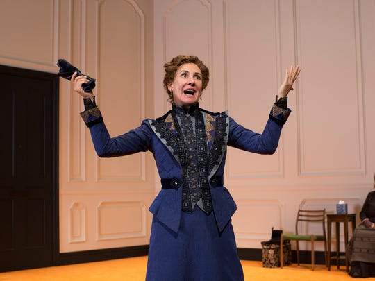 """Laurie Metcalf in the Broadway production of """"A Doll's House, Part 2."""""""