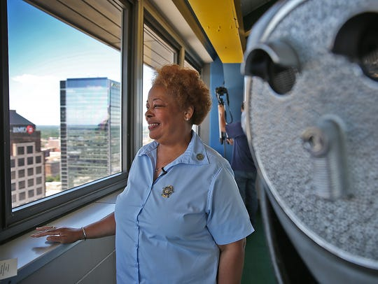 Denise Cummings has been a service elevator operator