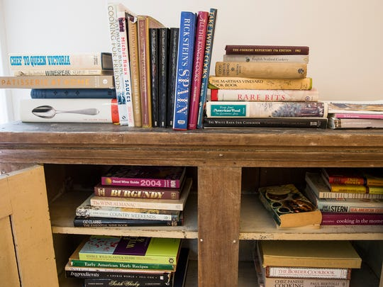 The cook book collection at Zingerman's Cornman Farms,