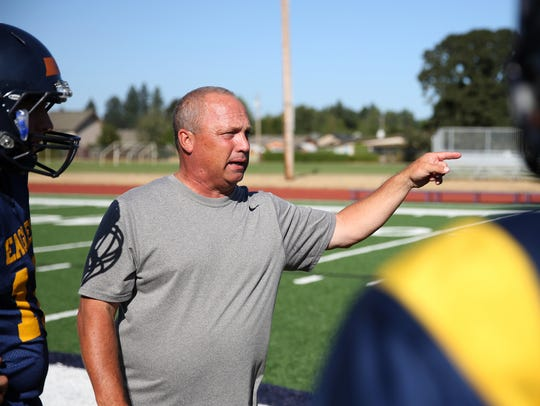 Randy Nyquist, head football coach for Stayton High