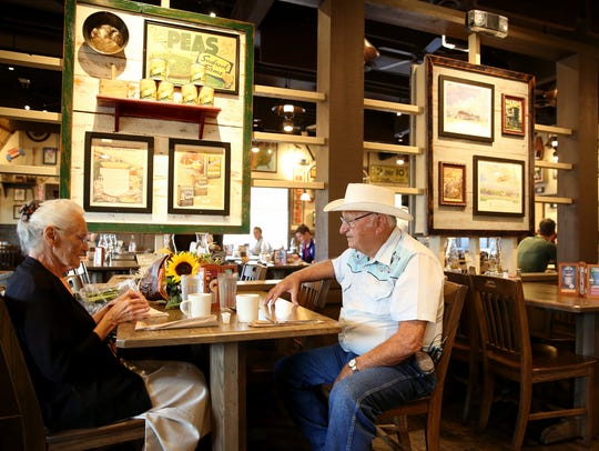 Ray and Wilma Yoder, both 81, visit their 645th Cracker