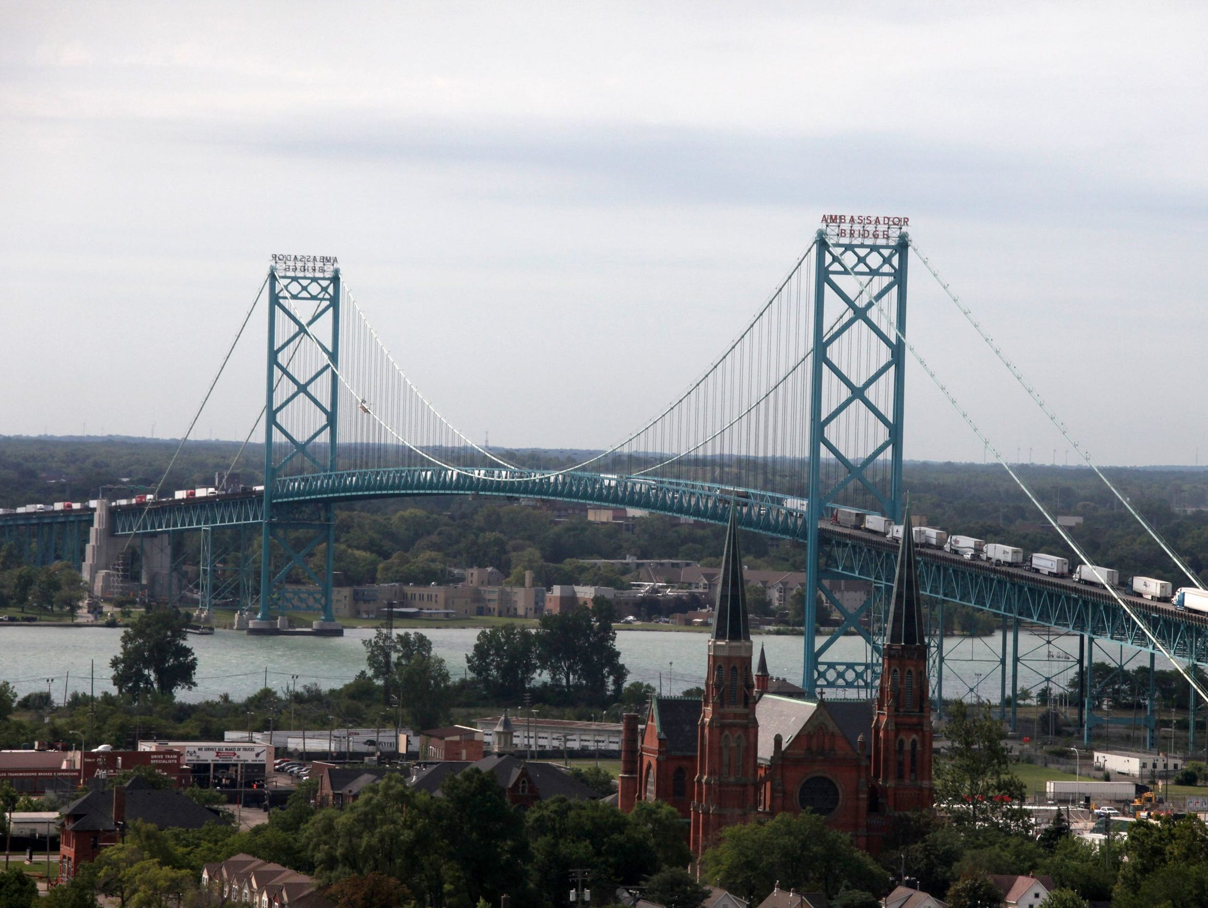 The Ambassador Bridge is one of the busiest border crossings in North America. The bridge is the most important economic link between the U.S. and Canada, taking in an estimated $60 million in tolls alone, with more than $500 million in trade crossing daily.