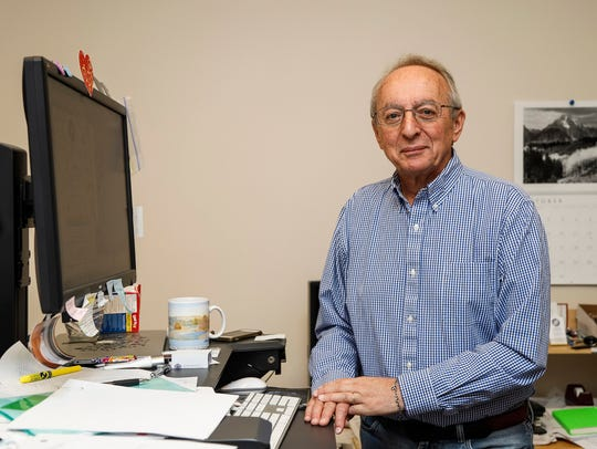 Russ Hart, 67, co-owner of Arbor Assays, in his office