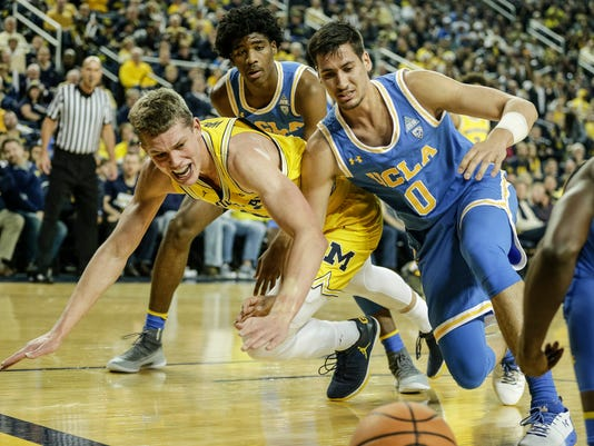 Michigan vs UCLA, Moritz Wagner