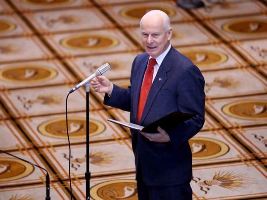 Secretary of State Dennis Richardson speaks during