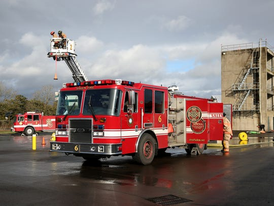 Salem firefighters go through training exercises at