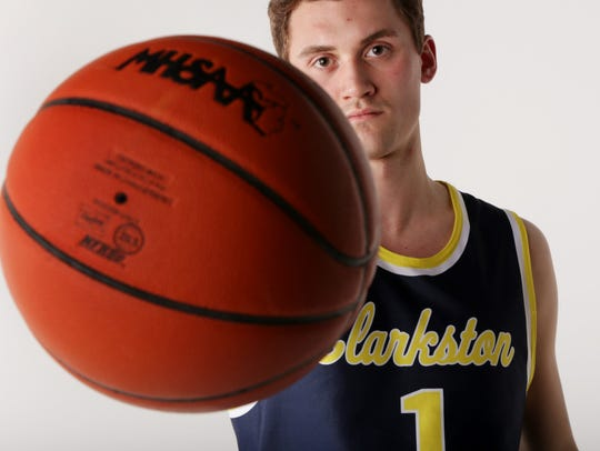 Foster Loyer of Clarkston High School received the