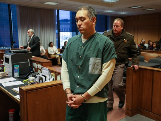 Former Michigan State Police Trooper Mark Bessner leaves