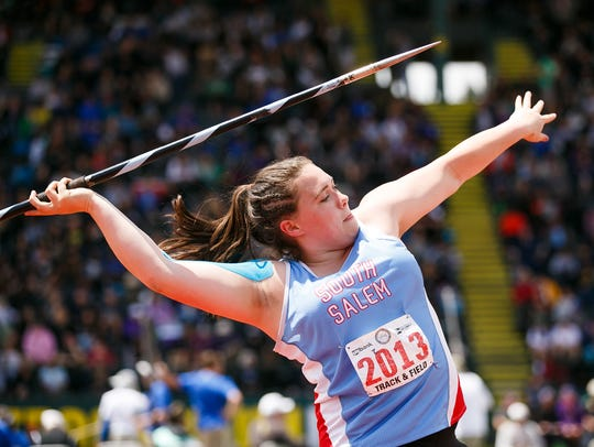 South Salem's Kaia Alexander competes in the 6A girls