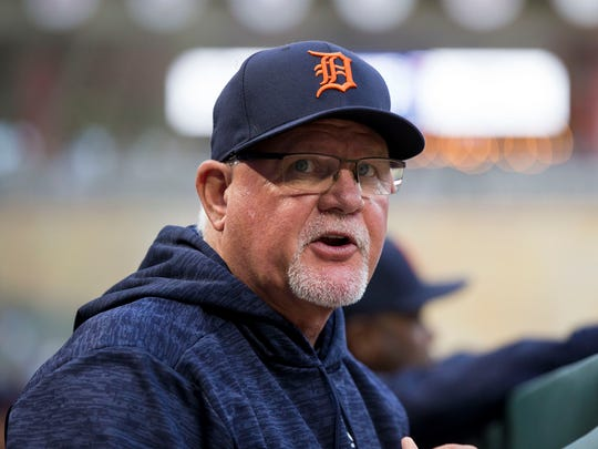 Tigers manager Ron Gardenhire in the dugout in the third inning Monday.