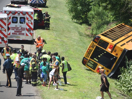 NJ Turnpike bus accident
