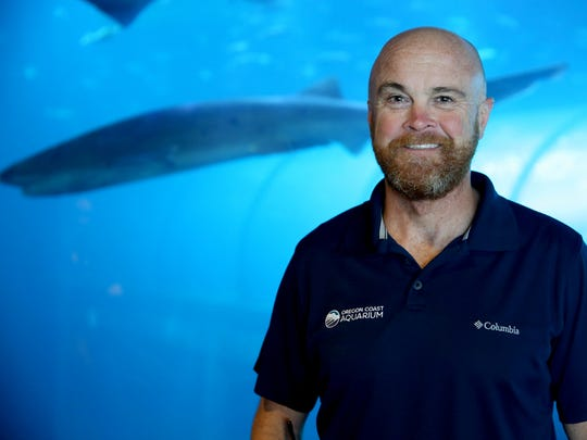 Jim Burke the Director of Animal Husbandry at the Oregon Coast Aquarium in Newport on Thursday, June 21, 2018.