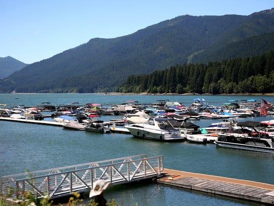 Kane's Marina, amid a water quality advisory from the