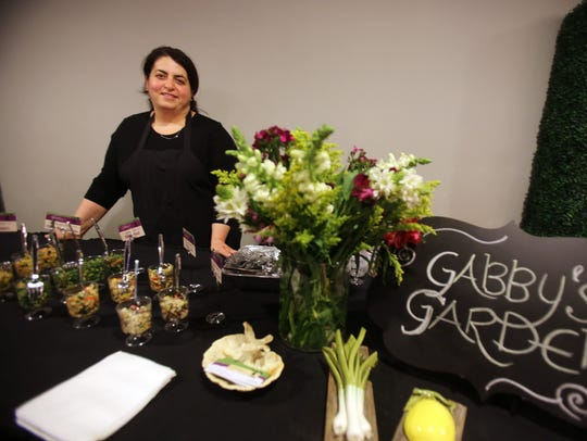 Wes Kassab of Gabby's Garden with her natural, organic