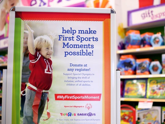 """The Lancaster location is one of the top collectors in a national fundraising campaign by Toys """"R"""" Us to raise money for the Special Olympics."""