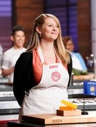 "Emily Hallock competes during the ninth season of ""MasterChef."""