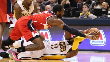 Could Paul George on the Wizards take down LeBron? John Wall wants to see.
