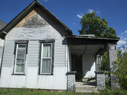 This house, at 1909 Cornell Ave., has gone to tax sale four times. It is now owned by San Diego-based Mt. Helix, the company with the most abandoned homes in Indianapolis.