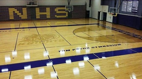 North Henderson's Tom Pryor Gym has a new look, courtesy of Haywood County company Carolina Hardwood.