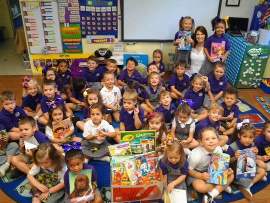 Opelousas Catholic preschoolers brought in new coloring