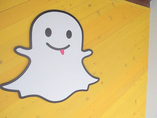 The Snapchat ghost on the wall of the old Snapchat