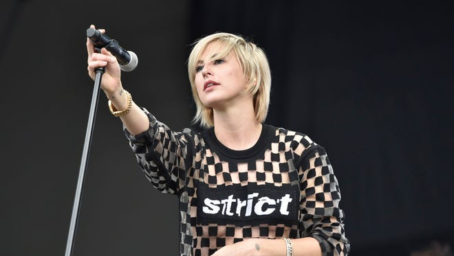 Sarah Barthel performs with Phantogram during this year's Lollapalooza festival.