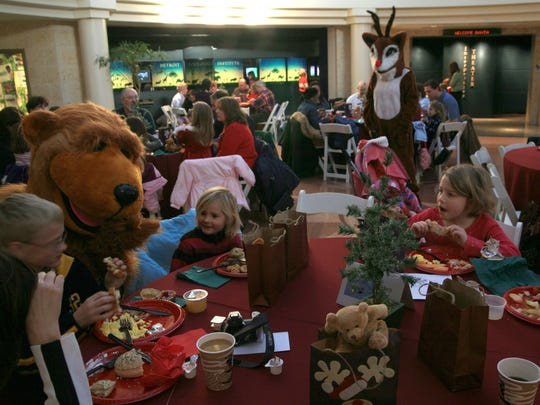 Breakfast with Santa kicks off at 8:15 a.m. Saturday at the Detroit Zoo. It repeats on Dec. 9 and 16.