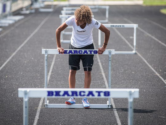 Central's Aaliyah Barnes conditions in warmer temperatures