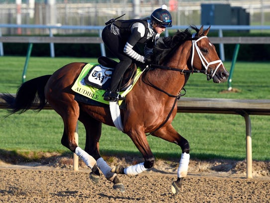 Exercise rider Amelia Green works out Kentucky Derby