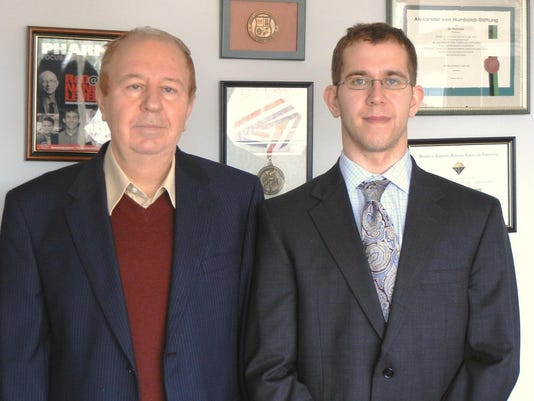 Dr. Yuri Lvov (left) and Joshua Tully