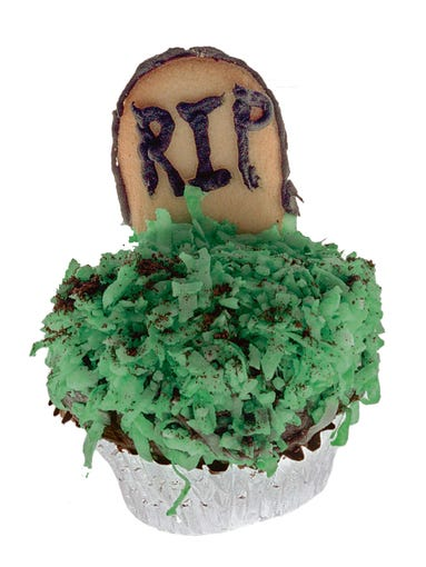 Ghoulish Graveyard: Use a cookie for the tombstone,