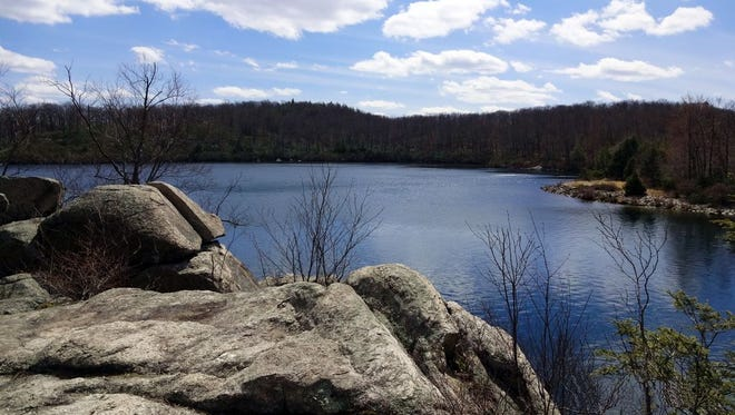 The western side of Pine Meadow Lake in Harriman State Park.